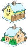 Casas del invierno de la historieta Imagen de archivo libre de regalías