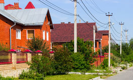 Casas del ladrillo rojo Imágenes de archivo libres de regalías