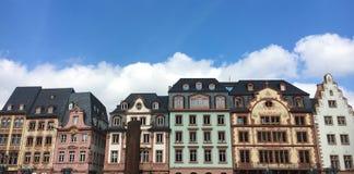 Casas del mercado en Maguncia Imagen de archivo