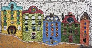 Casas del mosaico Foto de archivo