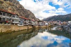 Casas del otomano en Amasya Imagenes de archivo