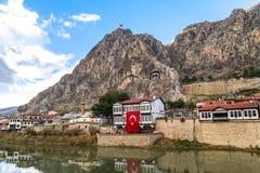 Casas del otomano en Amasya Fotos de archivo