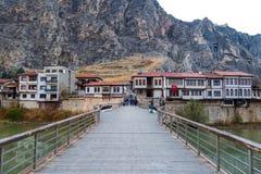 Casas del otomano en Amasya Fotos de archivo libres de regalías