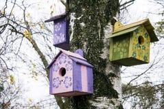 Casas del pájaro Fotografía de archivo libre de regalías