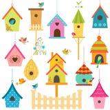 Casas del pájaro stock de ilustración