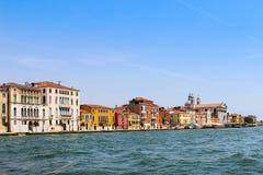 Casas del panorama de Venecia Fotos de archivo libres de regalías