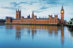 Casas del parlamento - ben grande, Inglaterra, Reino Unido fotografía de archivo
