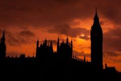 Casas del parlamento en Londres Fotografía de archivo