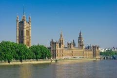 Casas del parlamento por la mañana Fotos de archivo libres de regalías