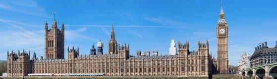 Casas del parlamento y de Big Ben Fotos de archivo