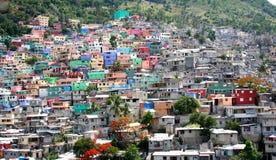 Casas del Port-au-Prince Imagenes de archivo