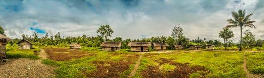 Casas del pueblo en Dekai Imágenes de archivo libres de regalías