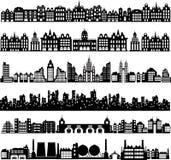 Casas del vector Imagen de archivo