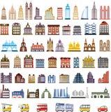 Casas del vector Fotografía de archivo libre de regalías
