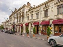 Casas del vintage en la calle de Bucarest Fotografía de archivo libre de regalías