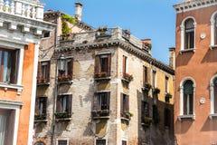 Casas del vintage en Venecia Foto de archivo libre de regalías
