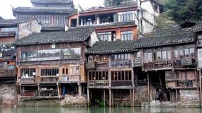 Casas dentro de FengHuang (ciudad antigua de Phoenix) Imagen de archivo libre de regalías