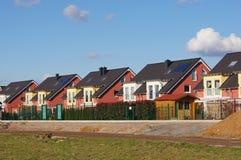 Casas destacadas imagem de stock