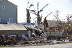 Casas destruídas pelo furacão Irma imagem de stock royalty free