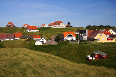 Casas/Dinamarca fotografia de stock