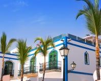 Casas do branco de Gran canaria Puerto de Mogan foto de stock