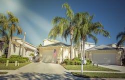 Casas do condomínio fechado em Florida imagens de stock royalty free