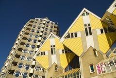 Casas do cubo Imagem de Stock