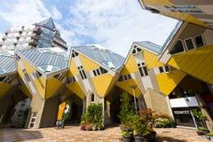Casas do cubo de Rotterdam Fotografia de Stock Royalty Free