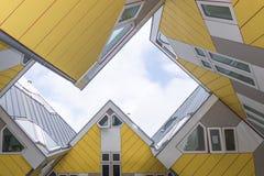 Casas do cubo em Rotterdam Foto de Stock Royalty Free