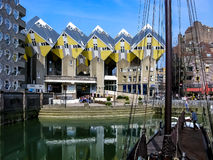 Casas do cubo em Rotterdam, Países Baixos Fotografia de Stock