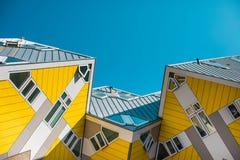 Casas do cubo, Rotterdam imagens de stock