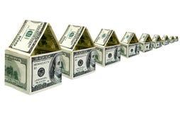 Casas do dinheiro Foto de Stock