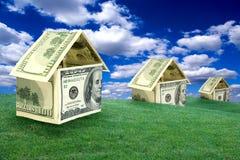 Casas do dinheiro Imagens de Stock