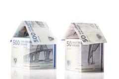 Casas do dinheiro Imagem de Stock Royalty Free