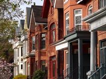 Casas do estilo do Victorian Fotografia de Stock