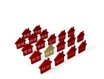 Casas do grupo Foto de Stock