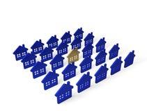 Casas do grupo Fotos de Stock