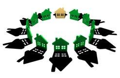 Casas do grupo Imagem de Stock