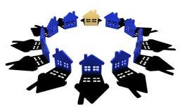 Casas do grupo Fotografia de Stock
