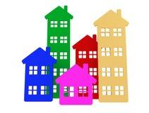 Casas do grupo Imagens de Stock Royalty Free
