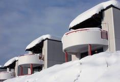 Casas do inverno Fotos de Stock Royalty Free
