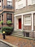 Casas do monte de baliza do vintage, Boston foto de stock royalty free