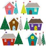 Casas do Natal ilustração royalty free