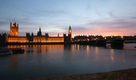 Casas do parlamento Foto de Stock