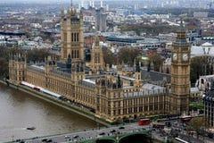 Casas do parlamento em Londres, Inglaterra. Fotografia de Stock