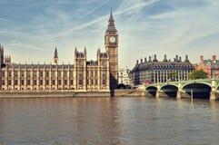 Casas do parlamento, Londres. Imagens de Stock Royalty Free