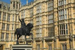 Casas do parlamento Richard 1 Fotografia de Stock Royalty Free