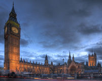 Casas do parlamento, Westminster foto de stock