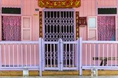 Casas do pernas de pau na aldeia piscatória chinesa em Pulau Ketam perto de Klang Selangor Malásia Imagens de Stock