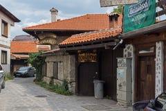 Casas do século XIX autênticas na cidade de Bansko, região de Blagoevgrad, Bulgária Imagens de Stock